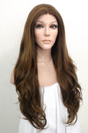 "24"" Mixed Brunette Lace Front Synthetic Wig 20057"