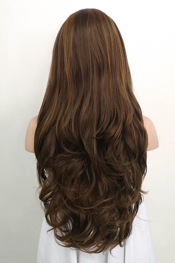 "26"" Mixed Brunette Lace Front Synthetic Wig 20147 - StarLite Hair"