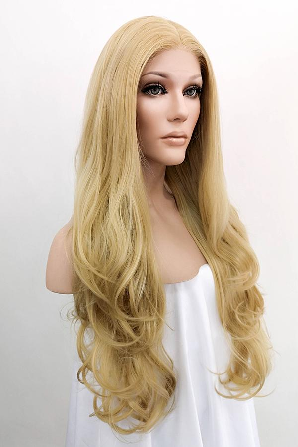 "26"" Mixed Blonde Lace Front Synthetic Wig 20148 Inspired by Cara Delevingne"