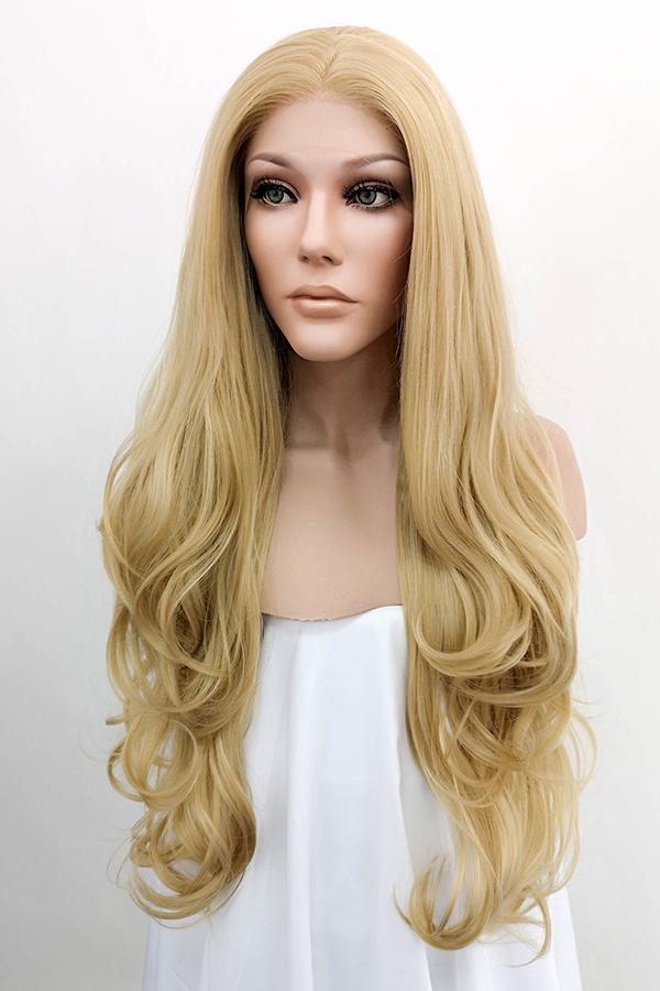 "26"" Mixed Blonde Lace Front Synthetic Wig 20148"