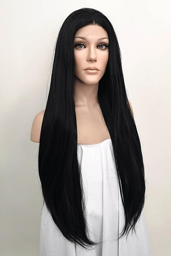 "30"" Jet Black Lace Front Synthetic Hair Wig 20151"