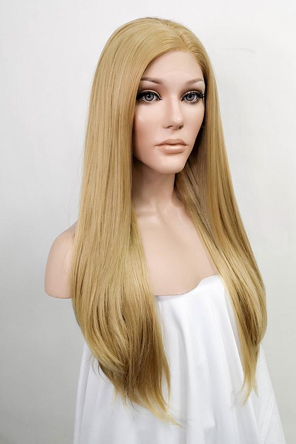"24"" Medium Blonde Lace Front Synthetic Wig 20153"