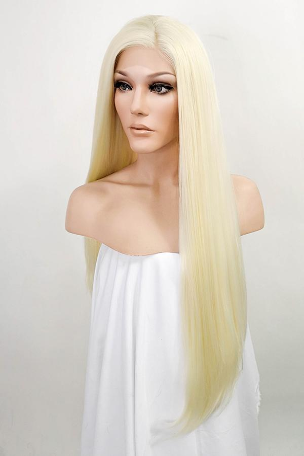 "30"" Light Blonde Lace Front Synthetic Hair Wig 20157"