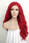 "24"" Dark Red Lace Front Synthetic Wig 20164 - StarLite Hair"