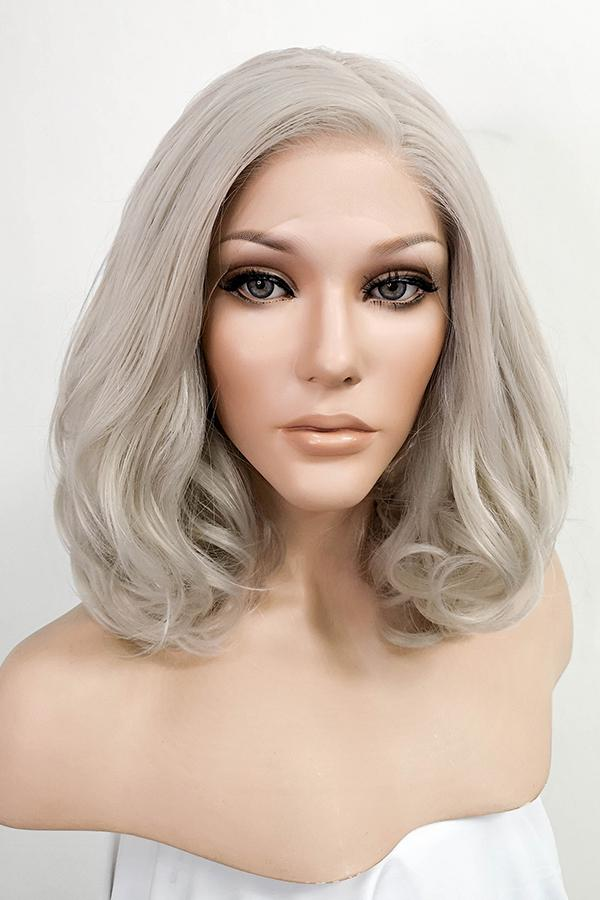 "16"" Ash Grey Lace Front Synthetic Hair Wig 20177 - StarLite Hair"