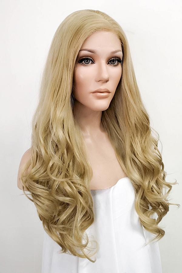 "24"" Ash Blonde Lace Front Synthetic Wig 20179"