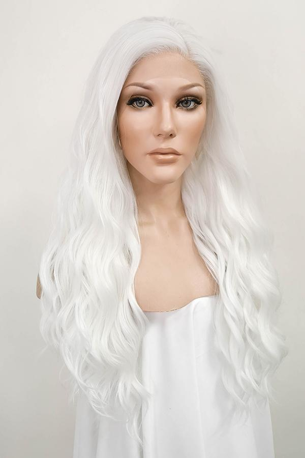 "24"" White Lace Front Synthetic Hair Wig 20231 - StarLite Hair"