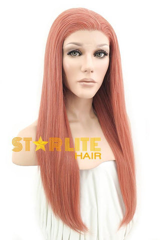 "28"" Pink With Dark Roots Fashion Synthetic Wig 50067"