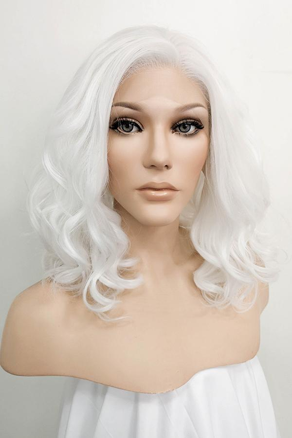 "12"" White Lace Front Synthetic Hair Wig 20227 - StarLite Hair"