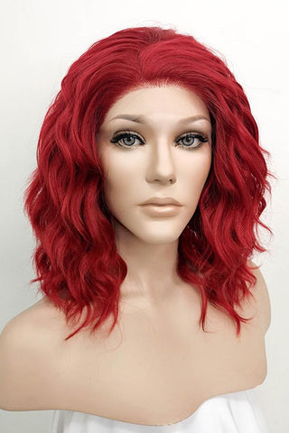 "36"" Pink Synthetic Lace Front Hair Wig 10242"