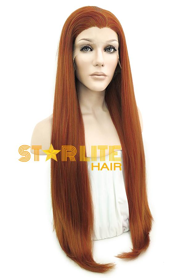 "30"" Auburn Lace Front Synthetic Hair Wig 20302 - StarLite Hair"