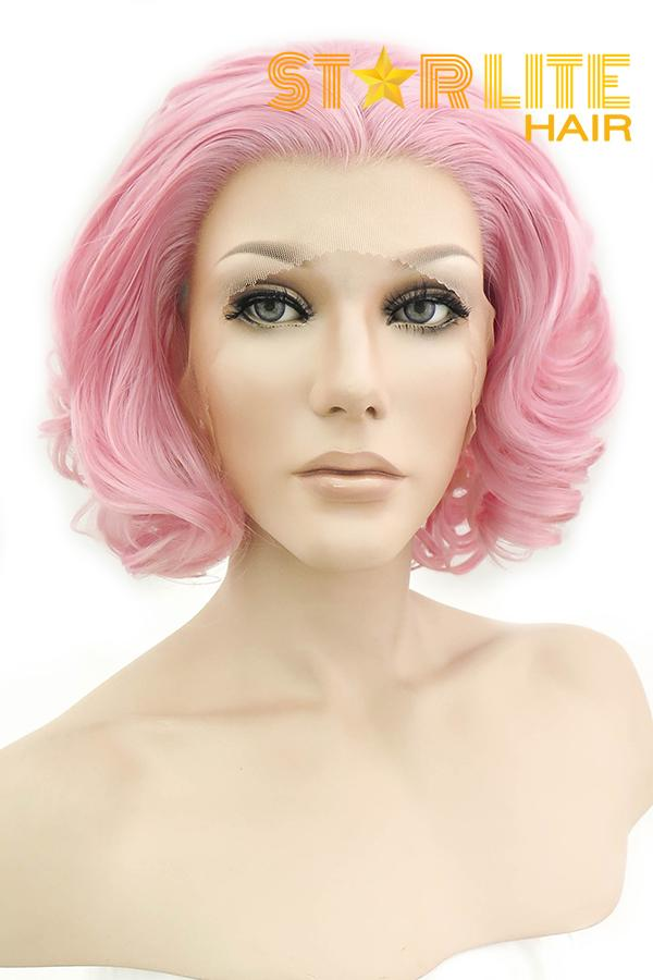 "10"" Pink Lace Front Synthetic Wig 20295"