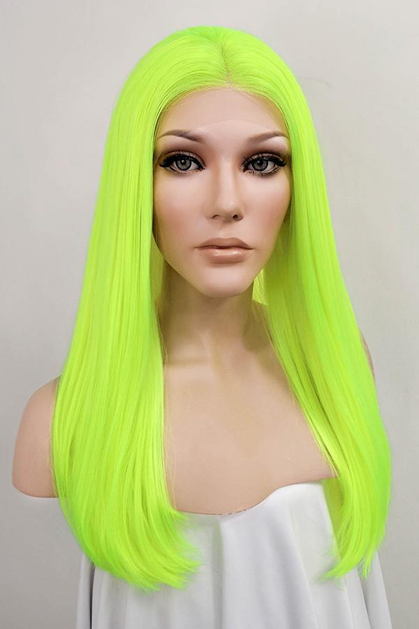 "18"" Neon green Lace Front Synthetic Wig 20317"