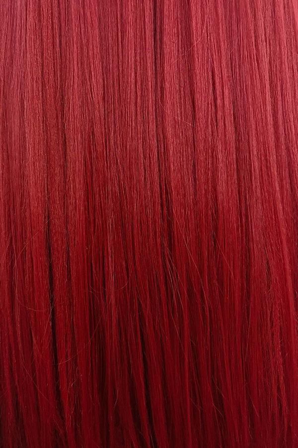"28"" Dark Red Yaki Lace Front Synthetic Wig 10010 - StarLite Hair"