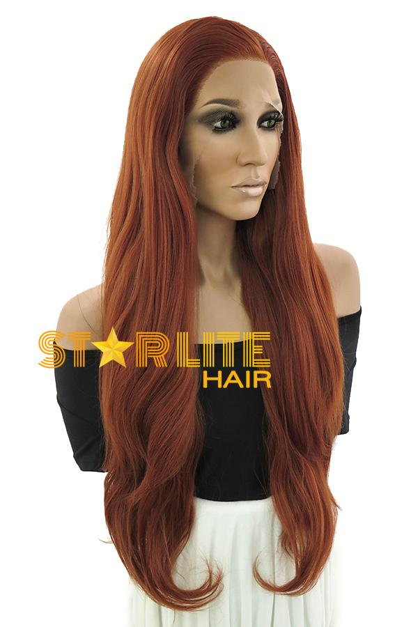 "28"" Reddish Brown Lace Front Synthetic Wig 10247 - StarLite Hair"
