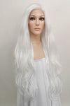 "32"" Pure White Lace Front Synthetic Wig 10023 - StarLite Hair"