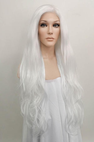 "28"" Light Pink Lace Front Synthetic Wig 10139"