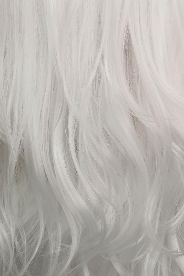 "28"" Pure White Lace Front Synthetic Wig 10023 - StarLite Hair"