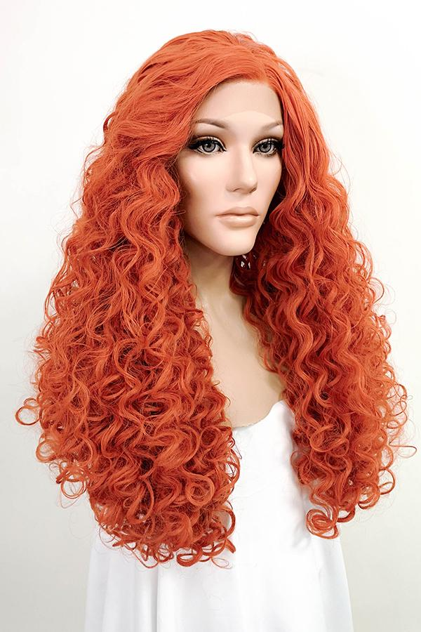 "20"" Reddish Orange Lace Front Synthetic Wig 10156 - StarLite Hair"