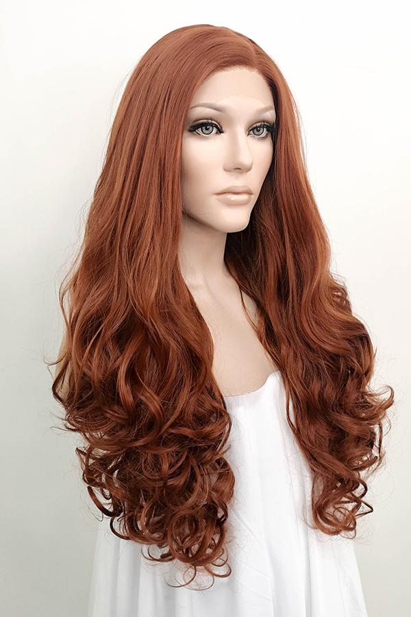 "28"" Auburn Lace Front Synthetic Wig 10031 - StarLite Hair"