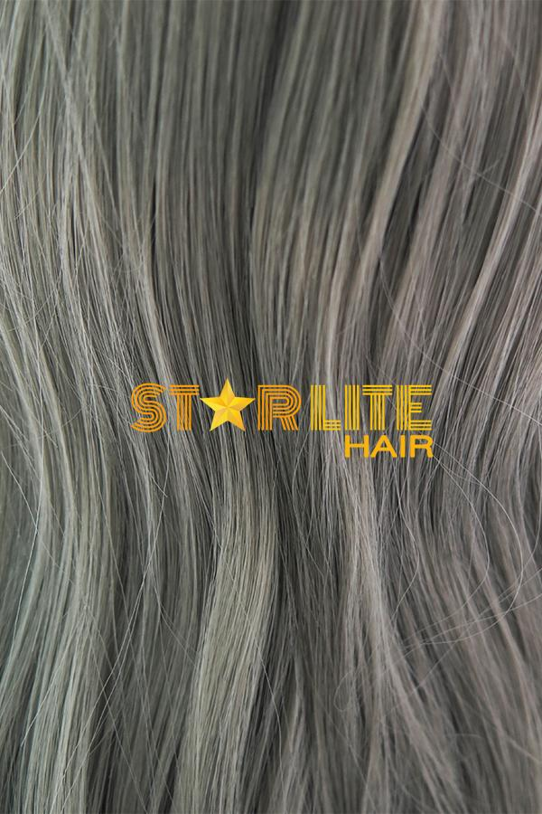 "22"" Grey Dark Roots Lace Front Synthetic Wig 10253 - StarLite Hair"