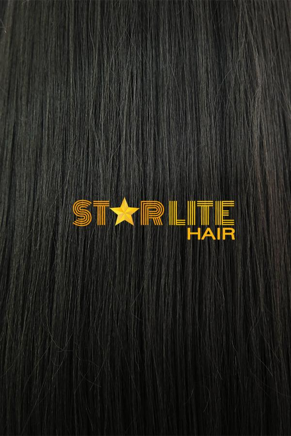 "39"" Natural Black Yaki Lace Front Synthetic Wig 10268 - StarLite Hair"