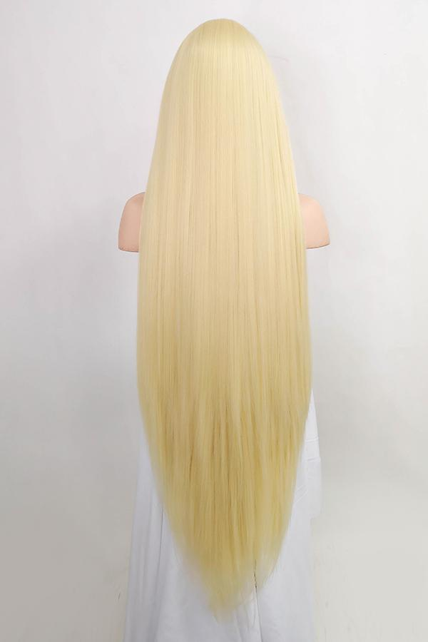 "42"" Light Blonde Yaki Lace Front Synthetic Wig 10056 - StarLite Hair"