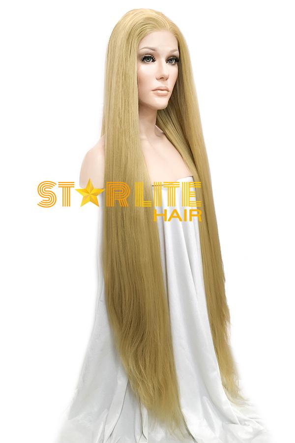 "45"" Blonde Yaki Lace Front Synthetic Wig 10059 - StarLite Hair"