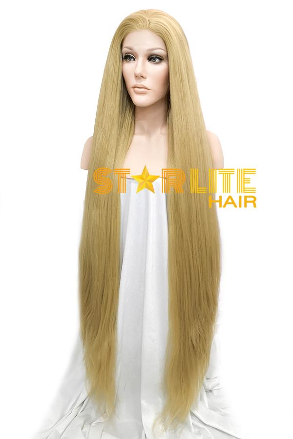 "39"" Blonde Yaki Lace Front Synthetic Wig 10059 - StarLite Hair"