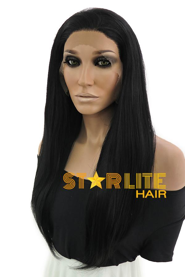 "18"" Black Lace Front Synthetic Hair Wig 10212 - StarLite Hair"