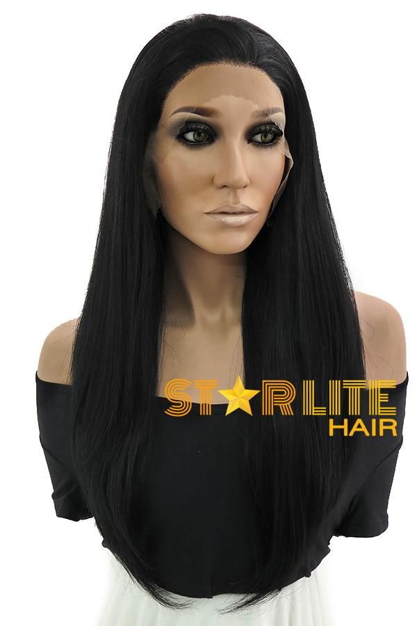 "18"" Black Lace Front Synthetic Wig 10212"