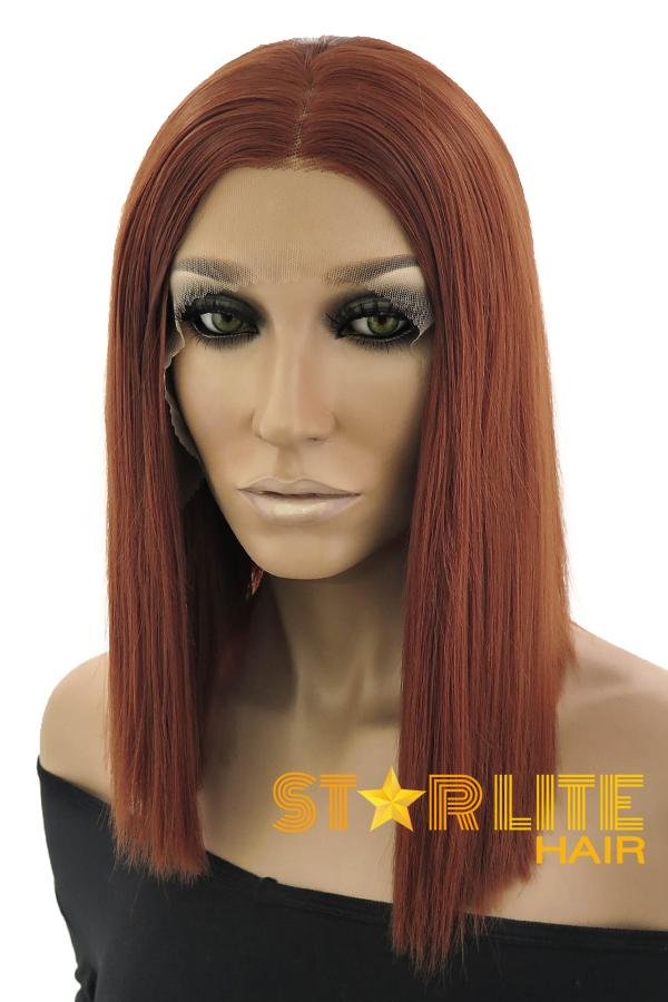 "16"" Auburn Lace Front Synthetic Wig 10255 - StarLite Hair"