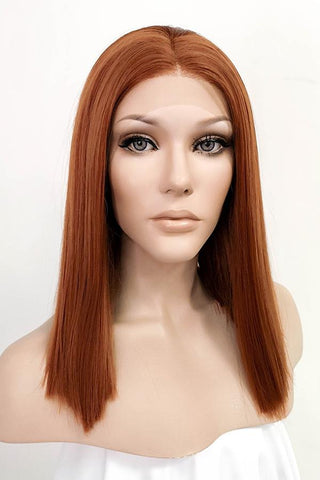 "25"" Green With Dark Roots Fashion Wig 50064"