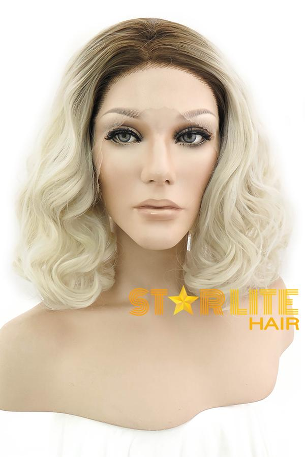 "14"" Light Blonde Dark Roots Lace Front Wig 10082 - StarLite Hair"