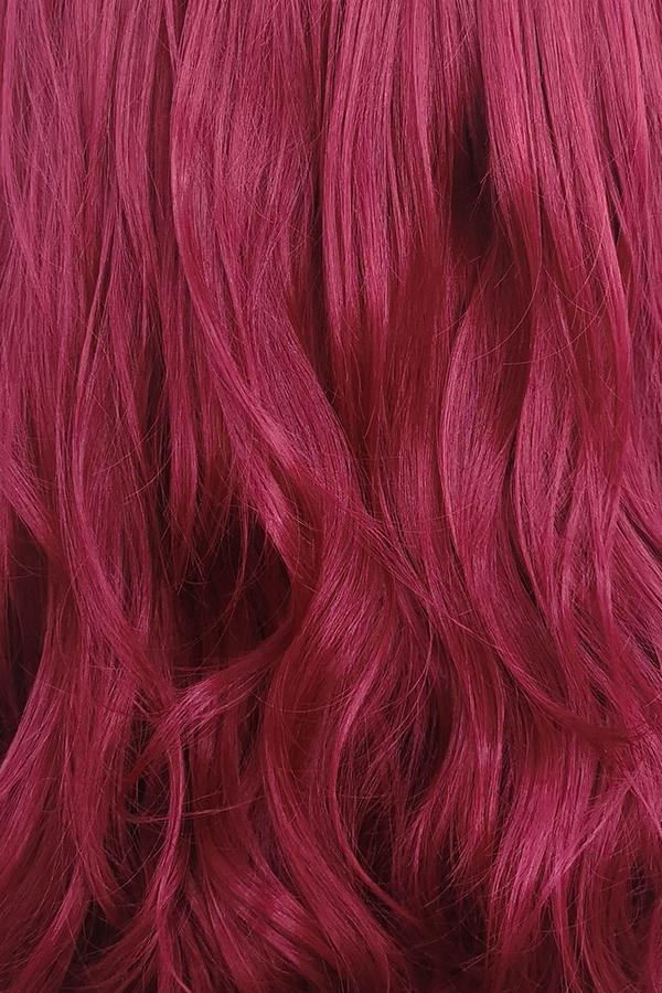"30"" Reddish Purple Lace Front Synthetic Wig 10097 - StarLite Hair"