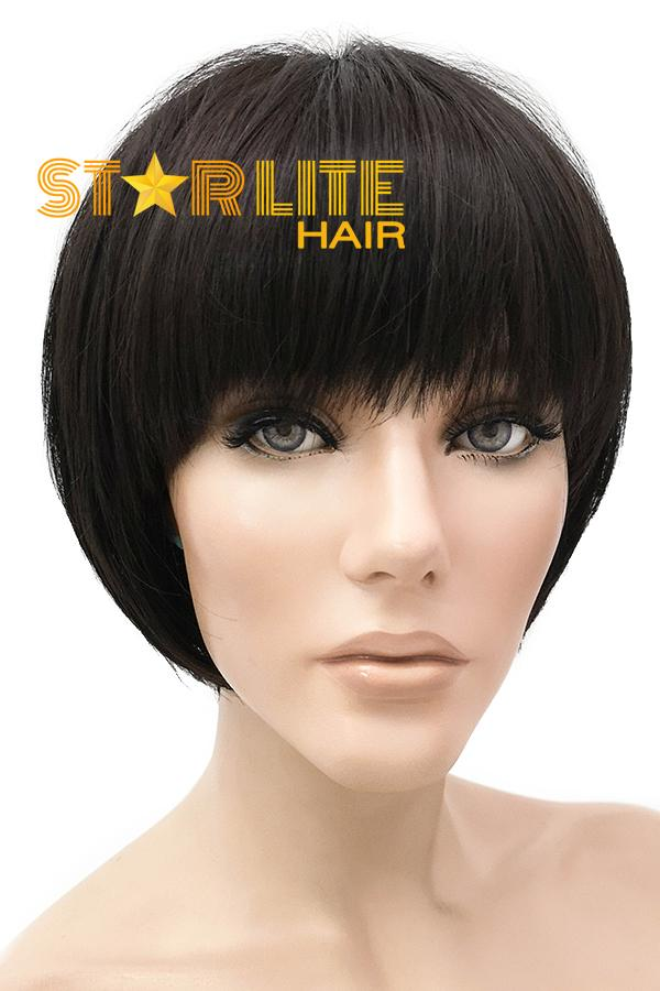 "8"" Black Lace Front Synthetic Wig 40030 - StarLite Hair"