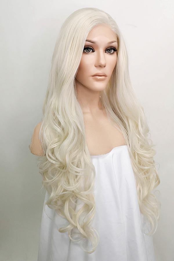 "26"" Light Blonde Lace Front Synthetic Wig 10002"