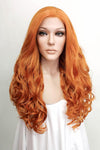 "22"" Dark Orange Lace Front Synthetic Wig 10003 - StarLite Hair"