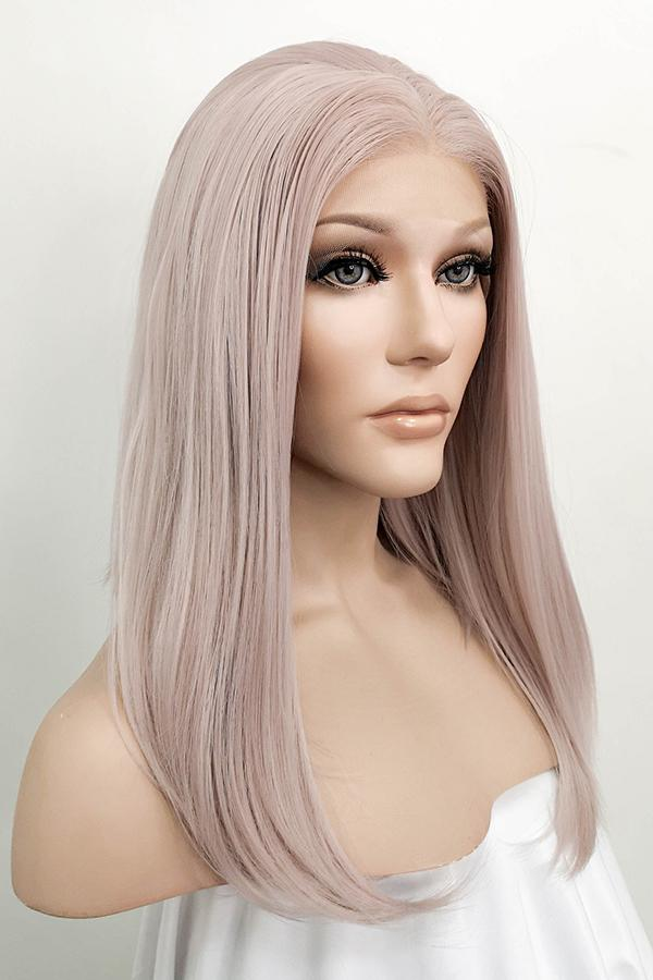 "16"" Pinkish Grey Lace Front Synthetic Hair Wig 10149 - StarLite Hair"