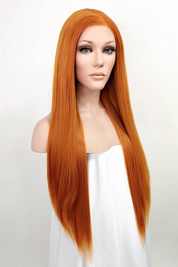 "32"" Light Auburn Lace Front Synthetic Wig 10287 - StarLite Hair"