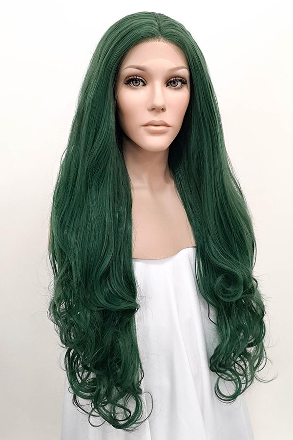 "26"" Deep Sea Green Lace Front Synthetic Wig 10153 - StarLite Hair"
