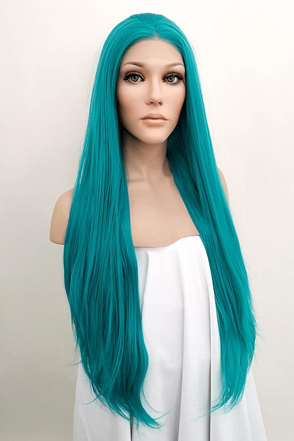 "28"" Turquoise Blue Lace Front Synthetic Wig 10234 - StarLite Hair"