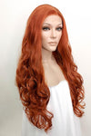 "26"" Auburn Lace Front Synthetic Wig 10065"