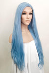 "30"" Light Blue Lace Front Synthetic Wig 10187"