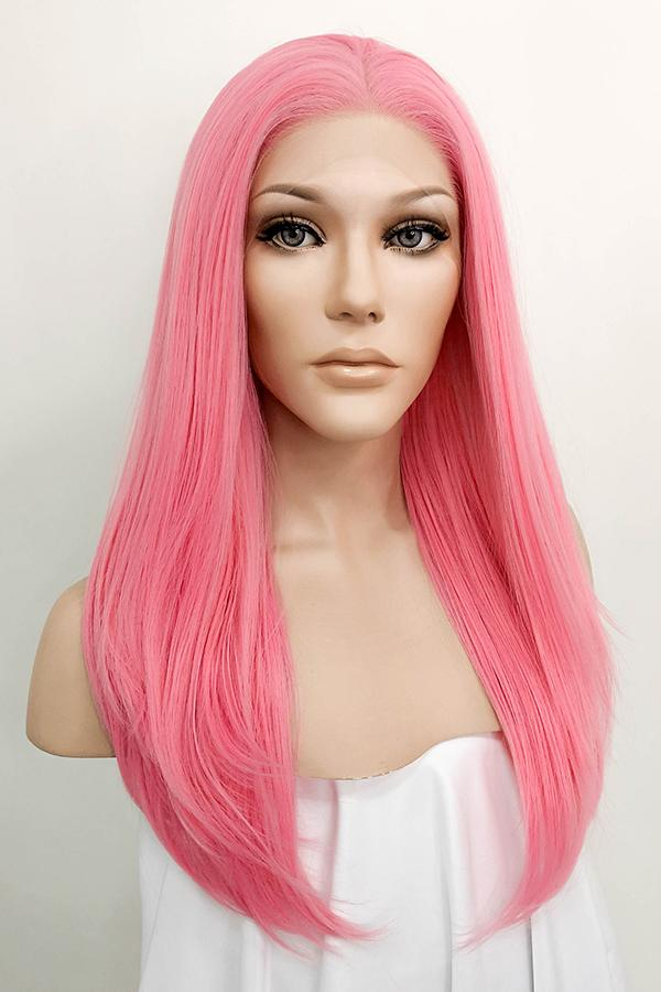 "22"" Pink Lace Front Synthetic Hair Wig 10154 - StarLite Hair"