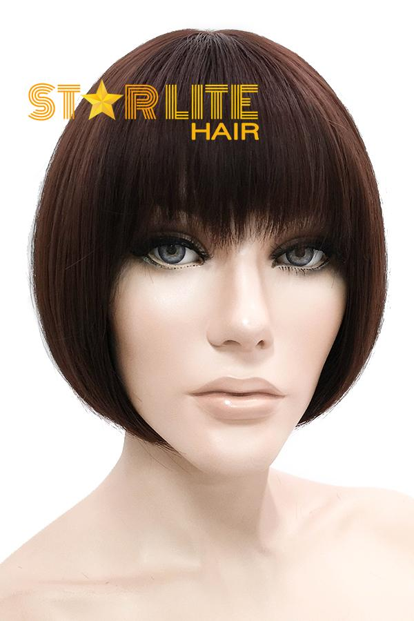 "9"" Brown Fashion Synthetic Hair Wig 50222 - StarLite Hair"