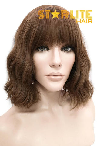 "12"" Brown Fashion Synthetic Hair Wig 50221"