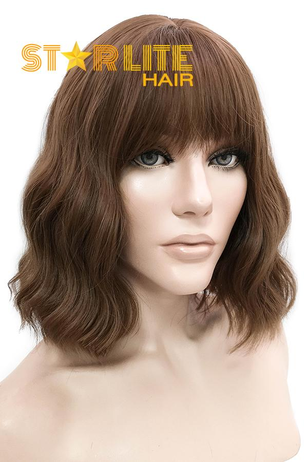 "12"" Brown Fashion Synthetic Hair Wig 50223 - StarLite Hair"