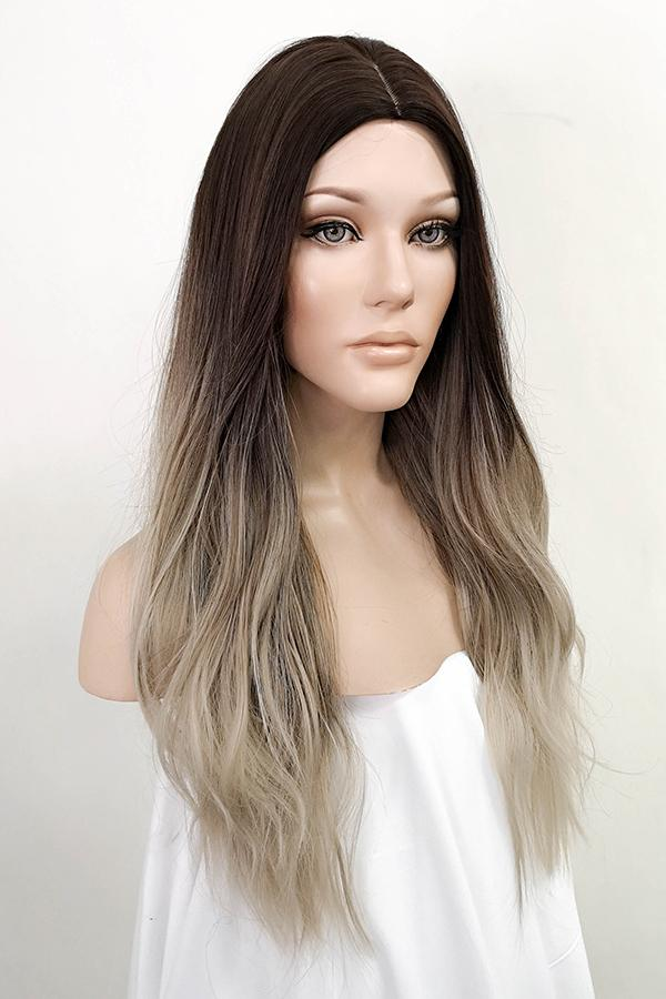 "26"" Brown Blonde Mixed Fashion Synthetic Wig 50234"
