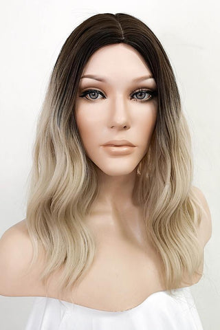 "36"" Blonde Fashion Synthetic Hair Wig 40041"